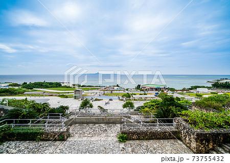 「沖縄県」美ら海水族館から眺める海洋博公園 73755432