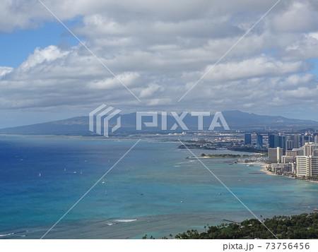 ハワイ ダイアモンドヘッドから見た風景 73756456