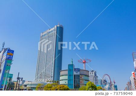 水道橋から見た東京ドーム方向の風景 73759040