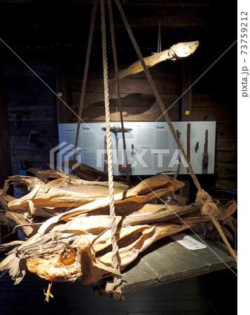 ノルウェーのベルゲンにあるハンザ博物館の展示 73759212