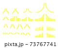 矢印グラフアイコンセット黄色 73767741