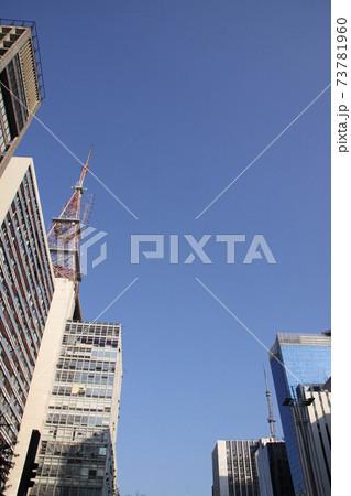 サンパウロのビジネス街と青空 ブラジル 73781960
