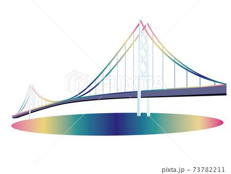 明石海峡大橋 夜景 73782211