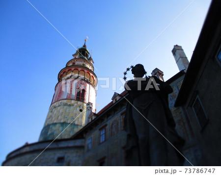 チェコ チェスキー・クルムロフ 城の塔 ジオラマ風 73786747