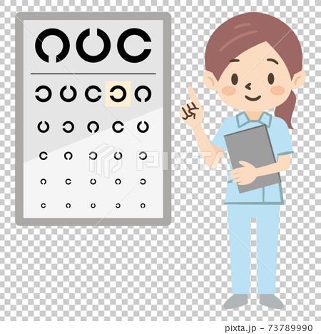 視力測試圖和眼科醫生女人 73789990