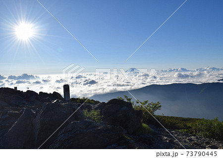 荒川岳(千枚岳)から望む雲海の富士 73790445