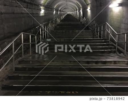 日本一のもぐら駅(土合駅)の長い階段 73818942