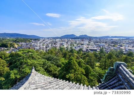 松江城から見た松江市内 島根県松江市 73830990