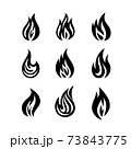 Flame and fire symbols and icons 73843775
