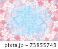 桜のフレーム背景素材 73855743