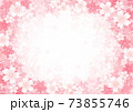 桜のフレーム背景素材 73855746