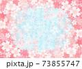 桜のフレーム背景素材 73855747