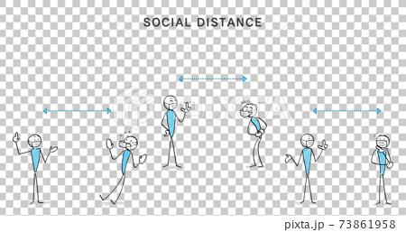 감염증 대책과 소셜 디스턴스 인물과 커뮤니케이션 73861958