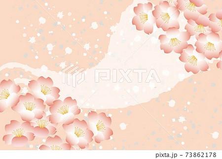 桜の花の和風ポストカード 73862178