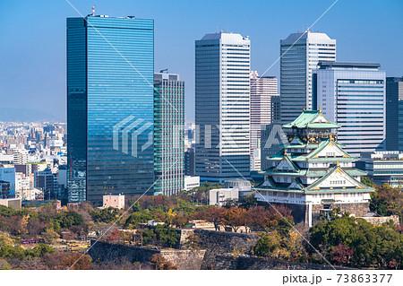 《大阪府》大阪城・都市風景 73863377
