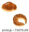 手描き風のパンイラスト 73876189