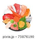 手描き風の海鮮丼 73876190