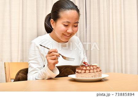 ホールケーキと女の子 73885894