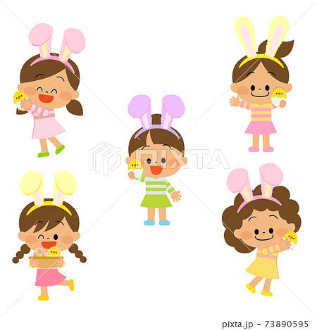 フワフワうさ耳の子供達 73890595