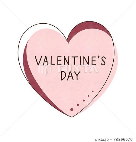 ピンク色のハートと文字【VALENTINE'S DAY】 73896676
