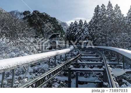 積雪の英彦山スロープカー_福岡県田川郡添田町大字英彦山 73897033