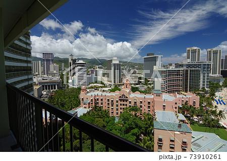【HAWAII・WAIKIKI】ハワイの風景・ワイキキホテル街 73910261