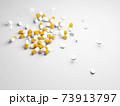 散らばったたくさんの薬、サプリメント 73913797