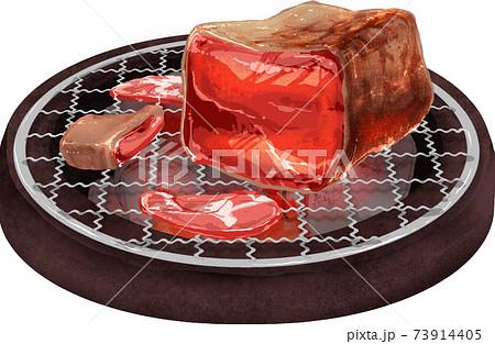 肉汁があふれる塊肉の焼肉 73914405