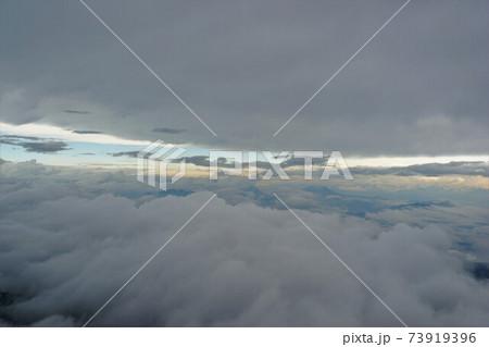 鹿島槍ヶ岳からの北信五岳方面の雲海 73919396
