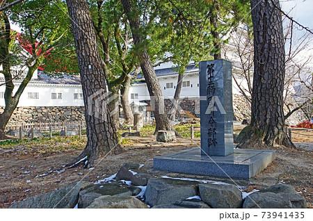 北九州市の小倉城にある旧第十二師団司令部跡記念碑 73941435
