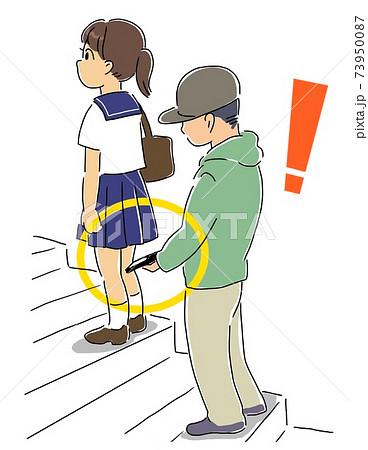 階段で盗撮される女の子 73950087