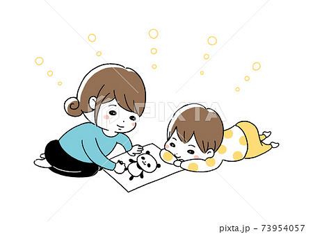 お絵描き 親子 73954057