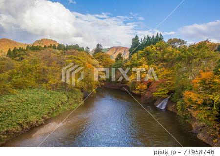 日本の車窓から 秋の秋田内陸縦貫鉄道 73958746