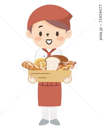 パン屋で働くの若い女性店員 73959477
