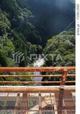 旧高千穂鉄道(高千穂あまてらす鉄道)高千穂鉄橋から見た風景 73961980