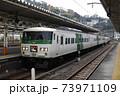東海道本線 185系特急踊り子号 熱海駅切り離し1  73971109