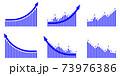 矢印グラフUPセット青 73976386