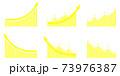 矢印グラフUPセット黄色 73976387