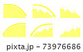 矢印グラフDOWNセット黄色 73976686