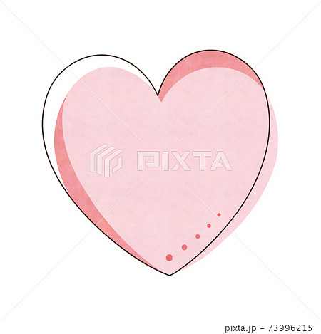 ピンク色のハート 73996215