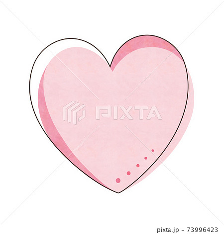 ピンク色のハート 73996423