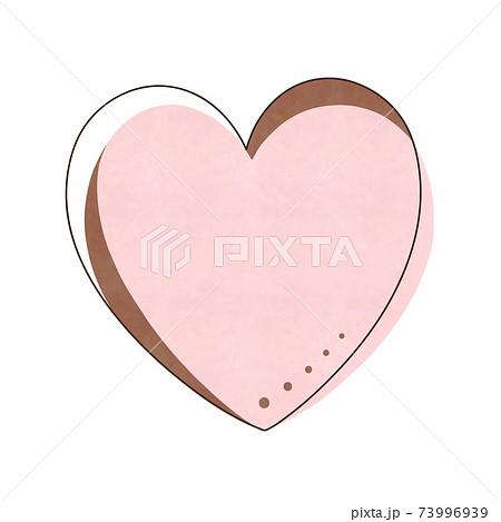 ピンク色のハート 73996939