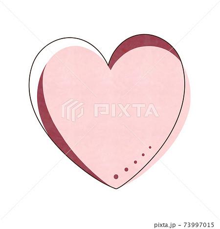 ピンク色のハート 73997015