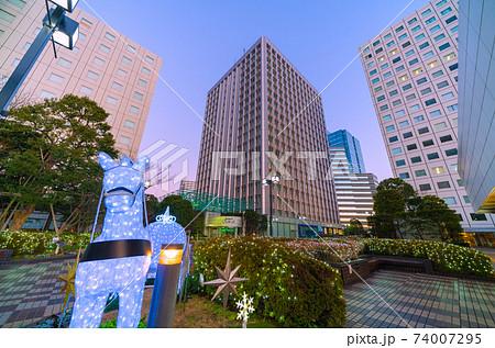 日本の東京都市景観 大崎ニューシティなどを望む(画面奥はゲートシティ大崎) 74007295