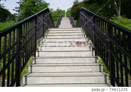 女峰山天空回廊の700段目のプレート 74011235