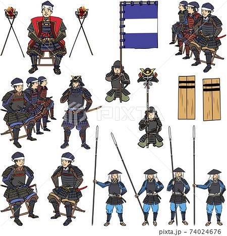 和風イメージ 合戦の人々セット1 74024676