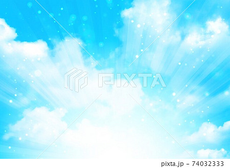 空と放射状 74032333