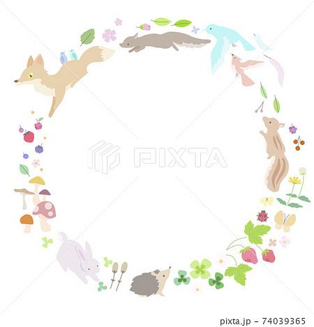 春の動物たちのフレーム 74039365