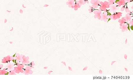 花びらが散る桜の背景素材 74040139