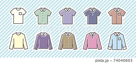 10アイコンセット(衣料品/シャツ) 74040603